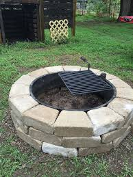 Firepit Ring Diy Gravel Pit Area Curved Bench Plans How Far Away Does A