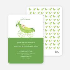 pea in pod baby shower invitation paper culture