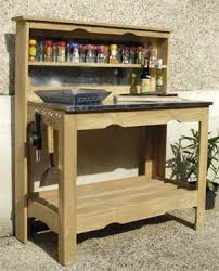 meuble cuisine exterieure bois cuisine exterieure bois 14 avec table plancha en et zinc