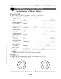 evolution worksheet worksheets releaseboard free printable