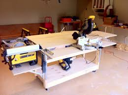 Build Woodworking Workbench Plans by Ana White Do It All Mobile Workbench Diy Projects