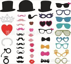 photo booth prop set of 44 photo booth prop mustache eye glasses on a stick