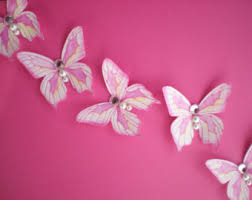 dimension pink butterfly wall decals 3d shadow painted colors