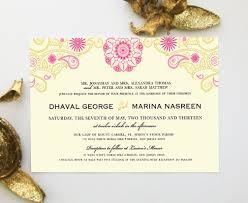 indian wedding invitations nj indian wedding invitation with henna mandala mehndi paisley
