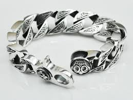 silver bracelet hand images Fashion cool skull ghost male thai silver 100 925 sterling silver jpg