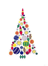 ornaments christmas tree embroidery design