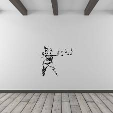banksy musical soldier vinyl wall art decal for home decor