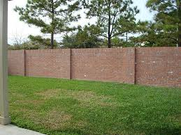 Garden Walls And Fences by Exterior Awesome Brown Brick Mosaic Fence With Green Grass
