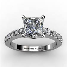 white gold diamond ring vanity white gold princess cut diamond engagement ring