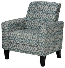 Accent Chair With Arms Cortesi Home Tali Blue Diamond Arm Accent Chair Contemporary