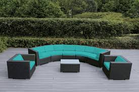 awesome outdoor curved sofa sunset patio furniture collections