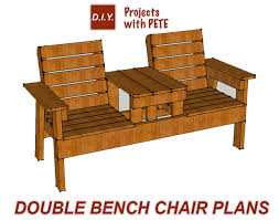 Woodworking Plans For Furniture Free by Free Patio Chair Plans How To Build A Double Chair Bench With Table