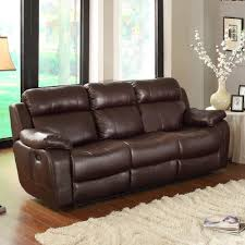 Leather Recliner Chair With Cup Holder Homelegance Marille Double Reclining Sofa W Center Drop Down Cup