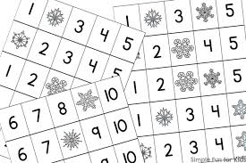 snowflake fill in the missing number 1 10 printable simple fun