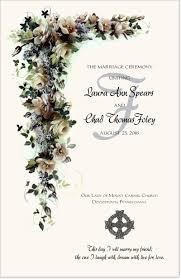 wording on wedding programs3 cords wedding ceremony white cascade wedding programs floral marriage ceremony