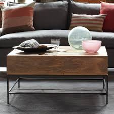 west elm wood coffee table rustic storage coffee table brilliant industrial west elm with 3