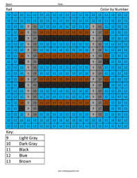Minecraft Color By Number Coloring Squared Rail Color Page