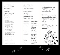wedding program layout 26 images of ceremony layout template leseriail