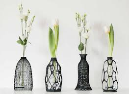 recycle your plastic bottles with these pretty 3d printed vases