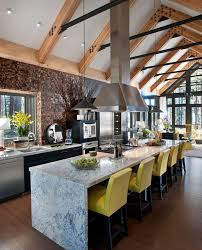 Kitchen Counter Stools Contemporary Industrial Kitchen Ideas Kitchen Industrial With Yellow Counter