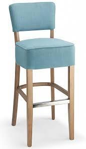 blue bar stools kitchen furniture fabric padded seat kitchen breakast bars stools