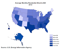 how much does an apartment cost per month average monthly electric bill by state