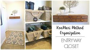 Front Entry Way by Konmari Organization Small Front Entryway Closet Youtube