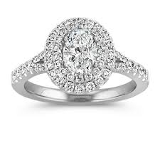 oval wedding rings oval halo diamond engagement ring with pav eacute