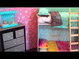 Build A Bear Bunk Bed With Desk by How To Make Doll Bunk Beds Easy Youtube
