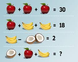 Math Problem Meme - fruit math problem puzzles math easy solutions
