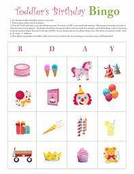 toddler birthday bingo card 1 free printable coloring pages many