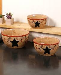 country star u0026 berry bowl set of 3 nesting bowls mixing or serving