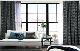 Gray And White Curtains Grey And White Curtains Ikea A Living Room Featuring Large Mullion