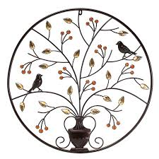 kiwarm vintageblack birds tree metal iron sculpture ornament for