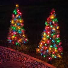 white pre lit christmas tree with colored lights multi colored pre lit christmas trees outdoor decorations 3 walkway