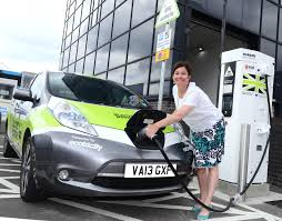 electric cars charging electric cars charge into birmingham airport birmingham airport