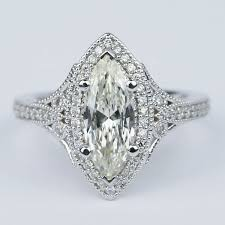 marquise diamond engagement ring deco halo marquise diamond engagement ring 1 carat