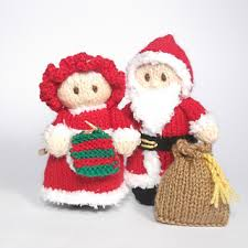 ravelry santa and mrs claus bitsy dolls pattern by fairall