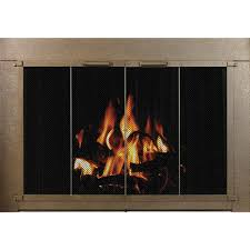 savannah masonry fireplace door with steel frame and powder coat