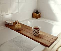 bath tray reclaimed wood tray bathroom decor bath caddy wooden
