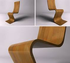 Wooden Armchair Designs Unique And Stylish Wooden Chair In Wavy Shape U2013 Mérise Home