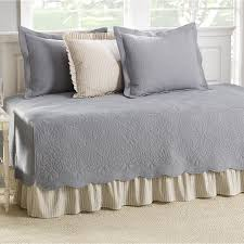 Daybed Blankets Bed U0026 Bedding Rowaland 5 Piece Daybed Comforter Sets In Grey And