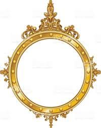 golden decor mirror frame vector stock vector art 667671302 istock