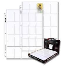 photo album sheets 10 bcw pro 20 pocket t206 tobacco trading card album pages binder