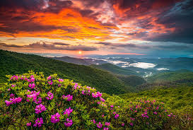 North Carolina scenery images Asheville north carolina blue ridge parkway scenic sunset jpg