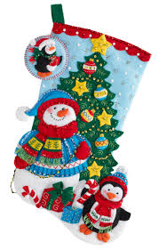 trimming the tree bucilla christmas stocking kit