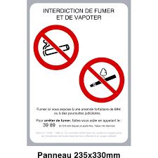 vapoter dans les bureaux panneau interdit de fumer et de vapoter protecnord