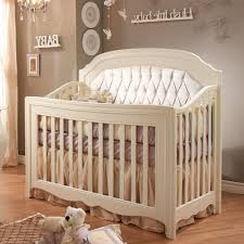 White Convertible Baby Cribs Allegra Convertible Crib With Upholstered Panel White And