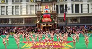 the thanksgiving day parade passes by who to on which