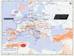 The Map Of Europe by Of Europe In 1809